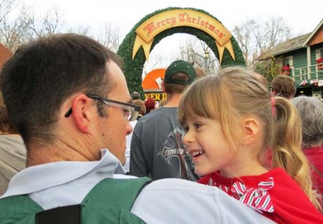 Rylin and dad Justin were excited as they opened the gate to Silver Dollar City.