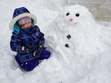 Rylin and her snowman