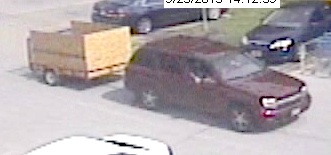 Suspects vehicle
