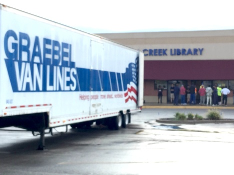 After the March 3rd water main break, just inside the back door of the Indian Creek Library, they are now moving into their temporary facility at 13511 Murlen, next door to Savers at Murlen and 135th. They will move into their new home, the old HyVee, after a substantial remodel that will take from 18-24 months. Submitted by Paul Wilson